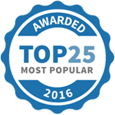 Top 25 Most Popular Tutors badge for 2016