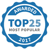 Top 25 Most Popular Tutors badge for 2017